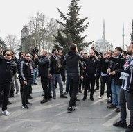 Beşiktaş taraftarı TT Arenaya böyle gitti