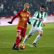 Atiker Konyaspor-Galatasaray karşılaşmasından kareler