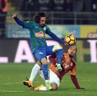 Çaykur Rizespor-Galatasaray karşılaşmasından kareler