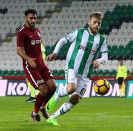 Atiker Konyaspor-Trabzonspor karşılaşmasından kareler