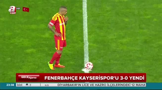 Kayserispor: 0 - Fenerbahçe: 3 (ÖZET)